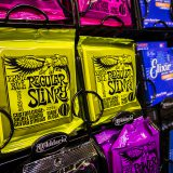 Guitar Strings on Display at Rich Tone Music