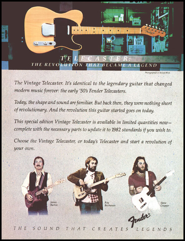 80s Fender Telecaster Advert