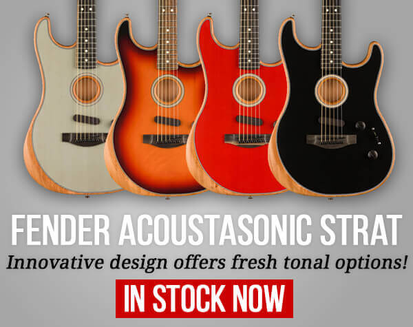 Fender Acoustasonic Stratocasters In Stock Now
