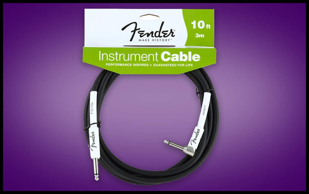Fender Performance Series Guitar Cable- Angled - 10 Ft