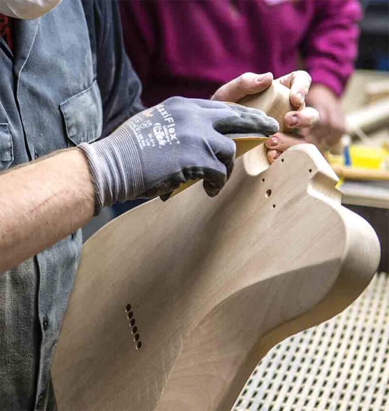 Fender workshop sanding edges