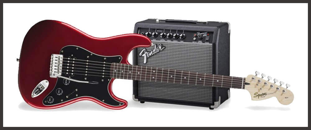 Squier Stratocaster HSS Starter Electric Guitar Pack