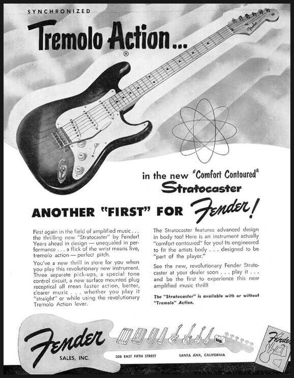 Tremolo Action Fender Stratocaster Advert