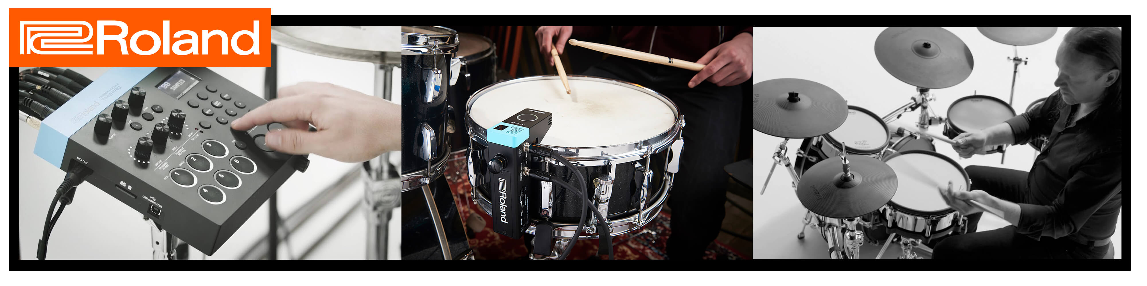 latest from namm roland hybrid drum triggers rich tone music. Black Bedroom Furniture Sets. Home Design Ideas