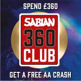 Spend £360 on Sabian Cymbals to Receive a Free 16