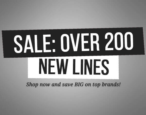 Sale: Over 200 New Lines
