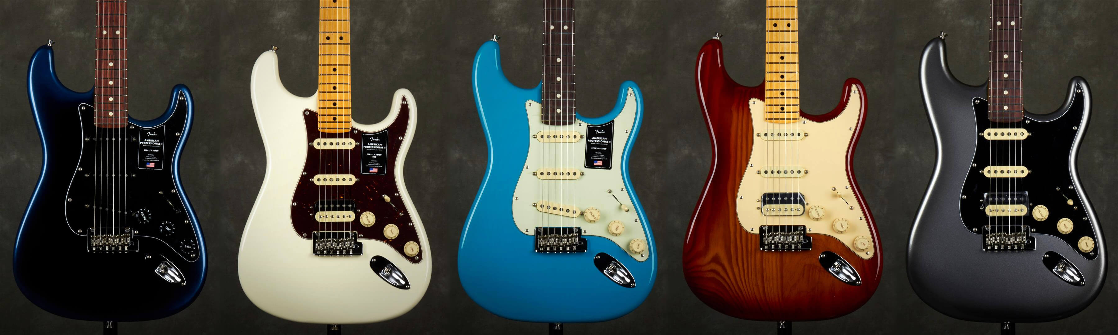 Am Pro II Stratocaster Colour options