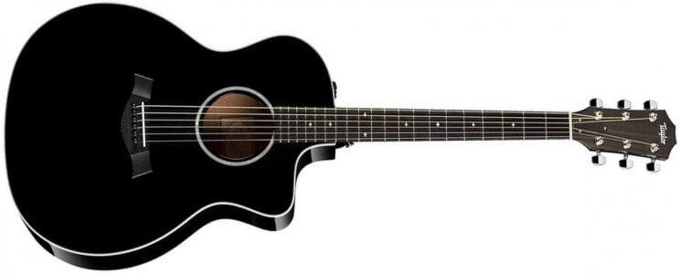 Taylor 214ce DLX Electro-Acoustic Guitar - Black