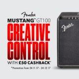 Claim £50 Cashback on a Fender Mustang GT100